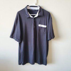 Travis Mathew Mens Golf Polo Shirt  Size XL Black